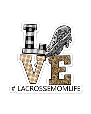 Lacrosse Love Sticker - Single (Vertical) front