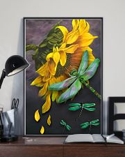 Sunflower And Dragonfly 11x17 Poster lifestyle-poster-2