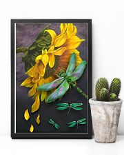 Sunflower And Dragonfly 11x17 Poster lifestyle-poster-8