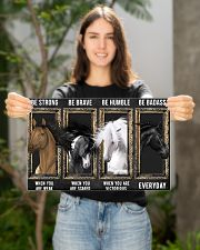 Horse Be Strong Poster 17x11 Poster poster-landscape-17x11-lifestyle-19