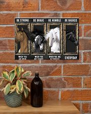 Horse Be Strong Poster 17x11 Poster poster-landscape-17x11-lifestyle-23
