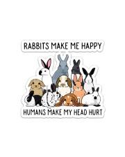 Rabbit Make Me Happy Sticker - Single (Horizontal) front