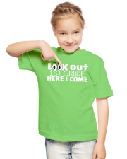 LOOK OUT 1ST GRADE HERE I COME Youth T-Shirt lifestyle-youth-tshirt-front-2