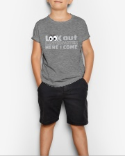 LOOK OUT KINDERGARTEN HERE I COME Youth T-Shirt lifestyle-youth-tshirt-front-1