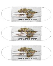 Amazing Africa We Love You Cloth Face Mask - 3 Pack thumbnail