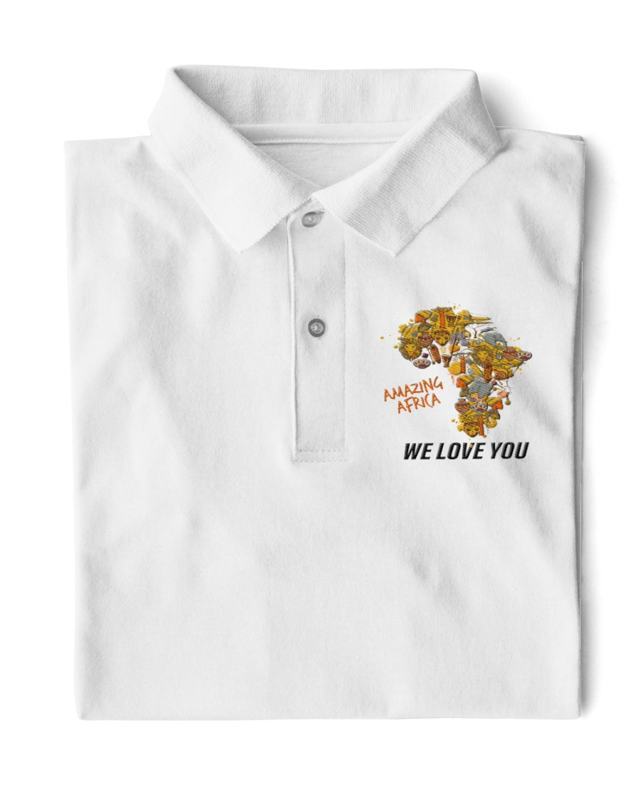 Amazing Africa We Love You Classic Polo