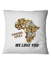 Amazing Africa We Love You Square Pillowcase tile