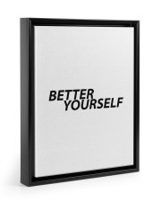 Better Yourself 11x14 Black Floating Framed Canvas Prints thumbnail