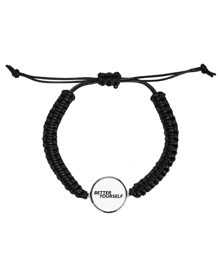 Better Yourself Cord Circle Bracelet