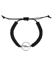 Better Yourself Cord Circle Bracelet front