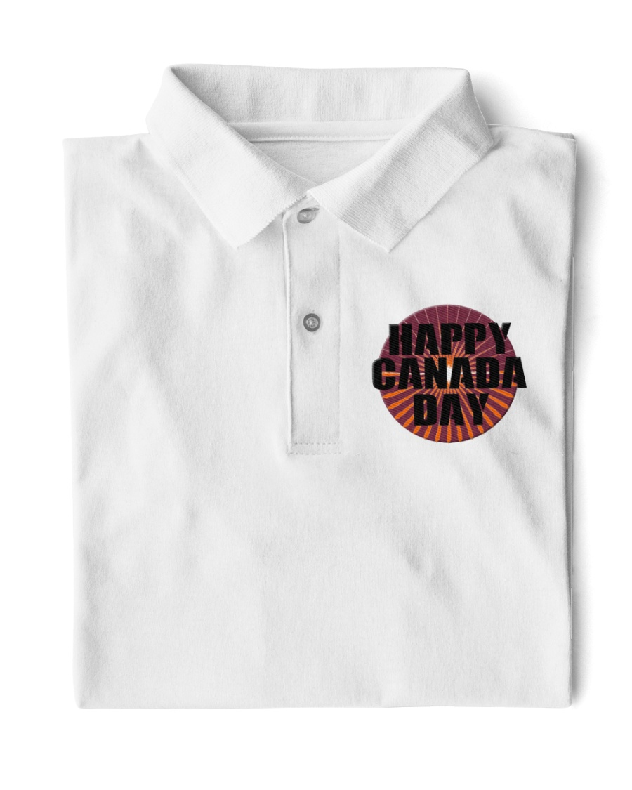 Happy Canada Day Edit Classic Polo