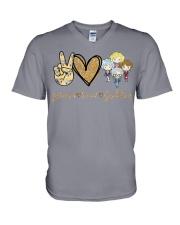 Peace Love GG V-Neck T-Shirt thumbnail