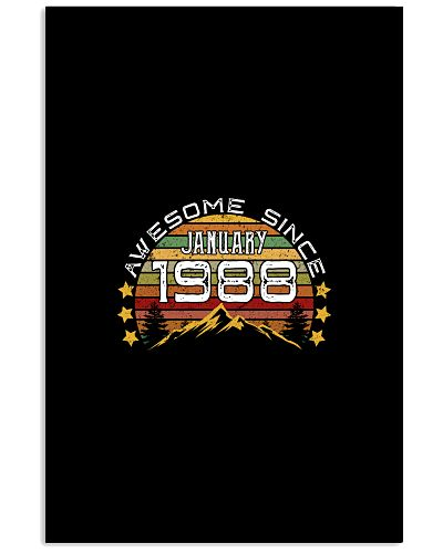 Awesome since January 1988 Birthday Gifts vintage