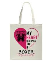 My Heart Belongs to a BOXER Tote Bag thumbnail