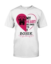 My Heart Belongs to a BOXER Classic T-Shirt thumbnail