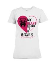 My Heart Belongs to a BOXER Premium Fit Ladies Tee thumbnail