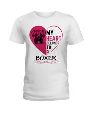 My Heart Belongs to a BOXER Ladies T-Shirt thumbnail
