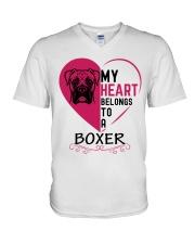 My Heart Belongs to a BOXER V-Neck T-Shirt thumbnail