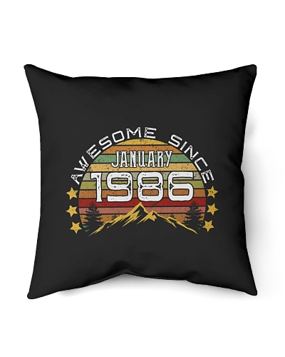 Awesome since January 1986 Birthday Gifts vintage