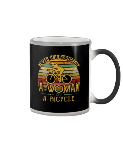 Never Underestimate A Woman On A Bicycle Vintage