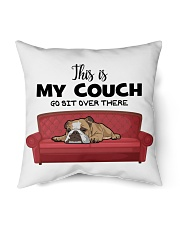 "This is my couch funny pillow for bulldog lover Indoor Pillow - 16"" x 16"" thumbnail"