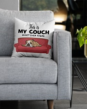 This is my couch funny pillow for bulldog lover Square Pillowcase aos-pillow-square-front-lifestyle-05
