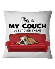 This is my couch funny pillow for bulldog lover Square Pillowcase front