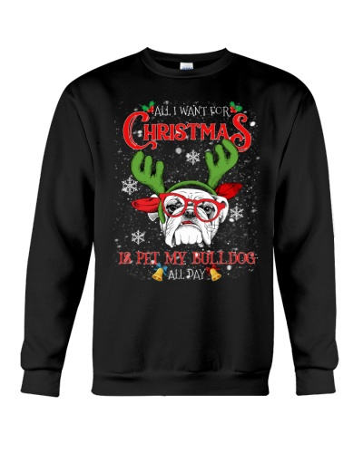 All I want for Christmas is pet my Bulldog all day