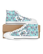 eds Women's High Top White Shoes inside-left-outside-left