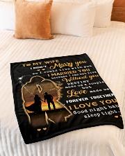 "BLANKET - TO MY WIFE  Small Fleece Blanket - 30"" x 40"" aos-coral-fleece-blanket-30x40-lifestyle-front-01"