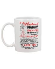 Family Husband Clock Marrying Moon Mug back
