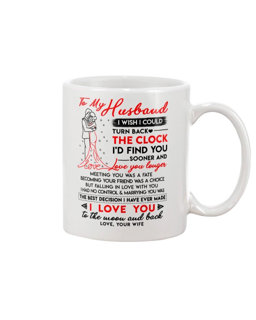 Family Husband Clock Marrying Moon Mug