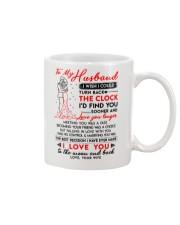 Family Husband Clock Marrying Moon Mug front