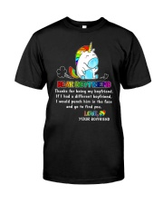 Unicorn LGBT Dear Boyfriend Mug Classic T-Shirt thumbnail