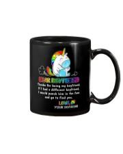 Unicorn LGBT Dear Boyfriend Mug Mug front
