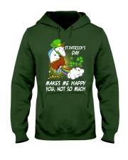 Patrick's day Unicorn make me happy shirt Hooded Sweatshirt thumbnail