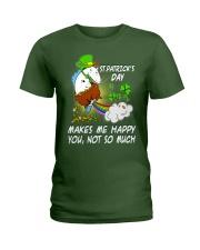 Patrick's day Unicorn make me happy shirt Ladies T-Shirt thumbnail