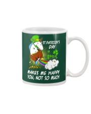 Patrick's day Unicorn make me happy shirt Mug thumbnail