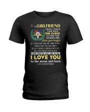 Freemason Girlfriend Clock Ability Moon Ladies T-Shirt thumbnail