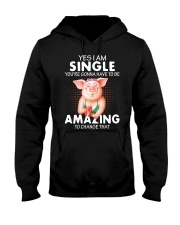 Farmer Pig single  Hooded Sweatshirt thumbnail