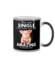 Farmer Pig single  Color Changing Mug thumbnail