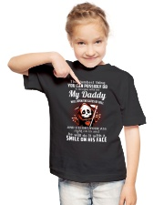 My Daddy Open Gates of Hell Youth T-Shirt lifestyle-youth-tshirt-front-2