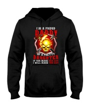 Firefighter Proud Daddy T-shirt Hooded Sweatshirt tile