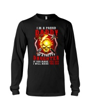 Firefighter Proud Daddy T-shirt Long Sleeve Tee thumbnail
