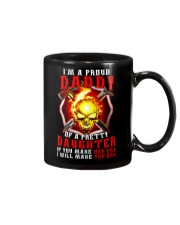 Firefighter Proud Daddy T-shirt Mug tile