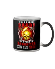 Firefighter Proud Daddy T-shirt Color Changing Mug tile