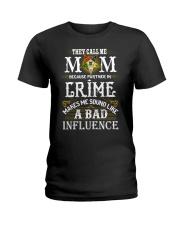 Freemason OES Mom Partner In Crime Ladies T-Shirt thumbnail