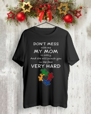 Autism My Mom Will Punch You In The Face Classic T-Shirt lifestyle-holiday-crewneck-front-2