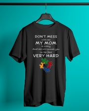 Autism My Mom Will Punch You In The Face Classic T-Shirt lifestyle-mens-crewneck-front-3
