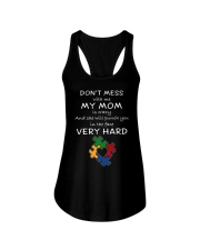Autism My Mom Will Punch You In The Face Ladies Flowy Tank thumbnail
